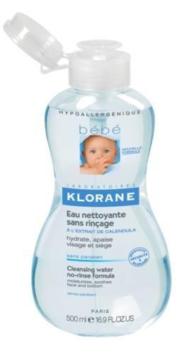 Agua limpiadora para bebé de Klorane en alerta en Francia