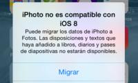 Crónica de una muerte anunciada. iOS 8 nos invita a migrar los datos de iPhoto
