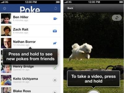 Facebook Poke y su modelo de mensajes con caducidad no cala entre los usuarios