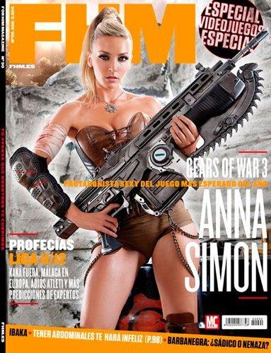 Anna Simón carga bien todas sus armas en FHM, ¡cuerpo a tierra!