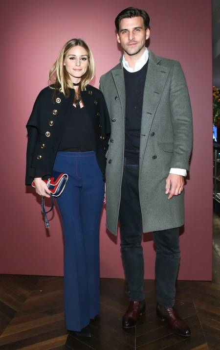 Olivia Palermo And Johannes Huebl Attend The Celebration Of The Tale Of Thomas Burberry With Sienna Miller And Dominic West At Burberry Soho 001