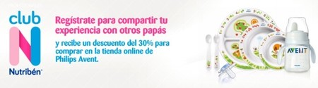 Philips Avent y Nutribén se unen para dar descuentos a los padres