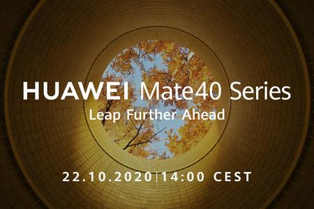 Los Huawei Mate 40 ya tienen fecha de presentación: llegarán la semana que viene