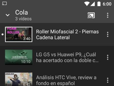 YouTube para Android rediseña la cola de reproducción de Google Cast para hacerla más intuitiva
