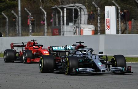 Bottas Leclerc Barcelona F1 2020