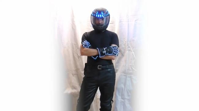 Casco LED azules Tron Legacy
