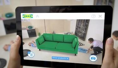 La realidad aumentada coloca virtualmente en nuestra casa los muebles de IKEA