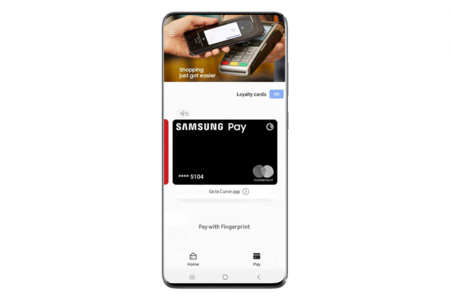 La app de Samsung Pay Card