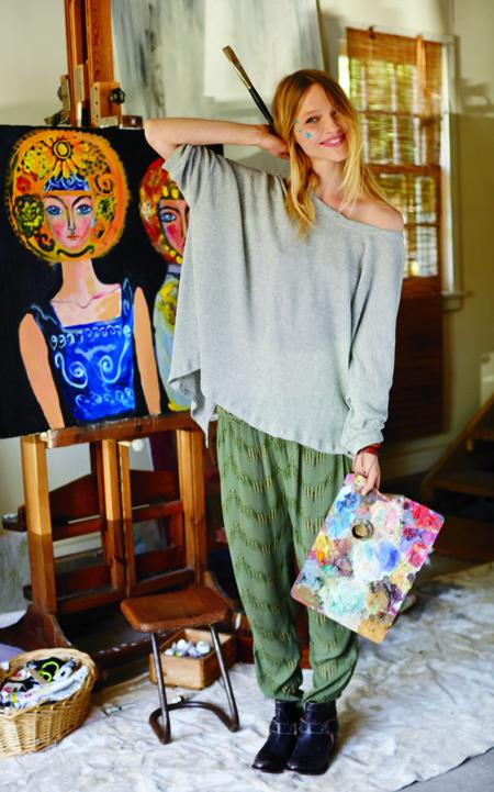 Catálogo Free People enero 2014 con Sasha Pivovarova fotografiado por Igor Vishnyakov jersey XXL oversize