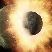 Estos planetas han chocado con tanta violencia que uno le ha arrancado la atmósfera a otro