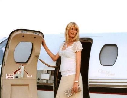 Claudia Schiffer, clienta habitual de Netjets