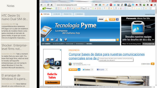 Pantalla dividida de Windows 8, ¿mejora o pérdida de la productividad en la empresa?