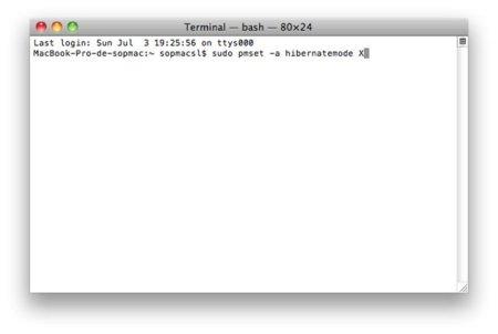 Los diferentes tipos de reposo en OS X