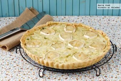 Receta de tarta salada de queso de cabra y lechuga