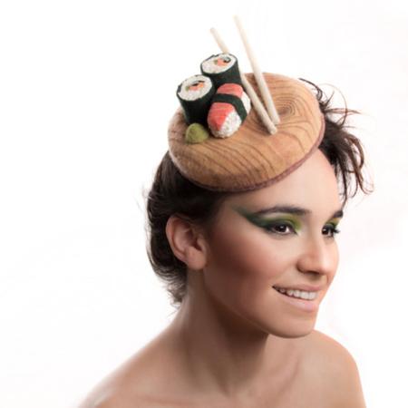 Curiosos sombreros que parecen platillos de comida