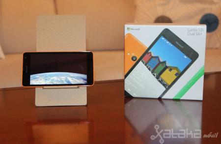 Microsoft Lumia 535, pantalla