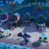 Dónde construir los castillos de arena especiales en el mapa de Fortnite
