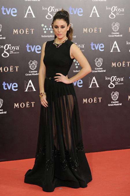 Alfombra roja de los Premios Goya 2014: Blanca Suárez se sube bien alto la coleta