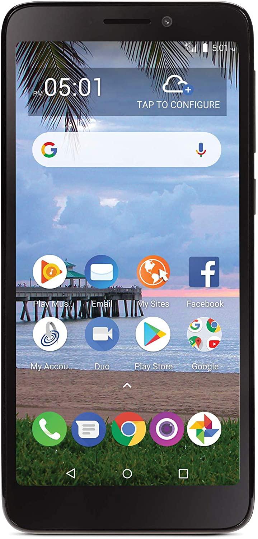 Tracfone TCL A1 4G LTE Prepago Smartphone - Negro - 16GB