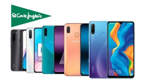Smartphones Samsung, Huawei o Xiaomi en oferta en El Corte Inglés con recogida rápida Click&Car