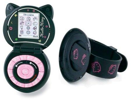 Móvil de Hello Kitty que puede convertirse en reloj