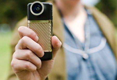 Objetivos macro y ojo de pez para la cámara del móvil. Imagen de la semana.
