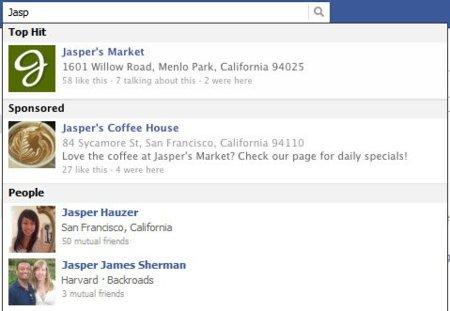 Los anuncios llegan al buscador de Facebook, llega la guerra de marcas