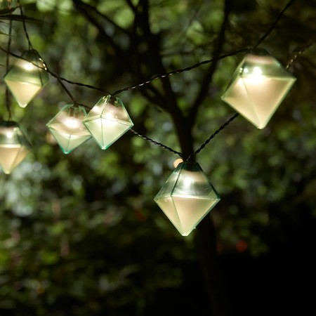 Solvinden Led Lighting Chain With 12 Bulbs Outdoor Solar Powered Diamond Shaped Blue 0768209 Pe758755 S5