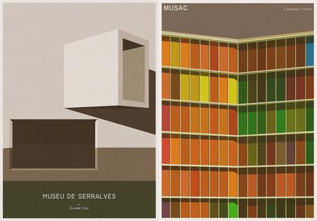 Ilustraciones icónicas de arquitectura - 4