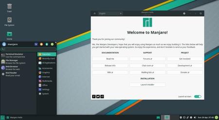 Ya está disponible Manjaro 20, con soporte para Snap y Flatpak, ZFS, y hasta nuevo tema