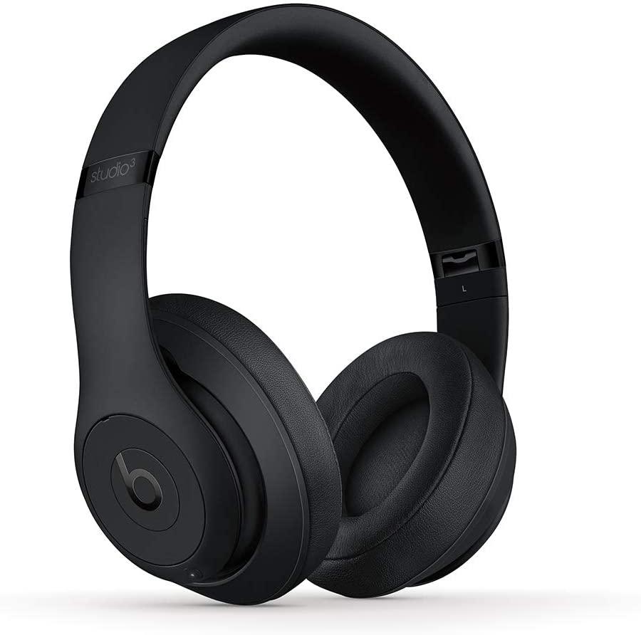 Beats Studio3 inalámbricos con Chip W1, cancelación de ruido activa, 22 horas de audio - Negro Mate