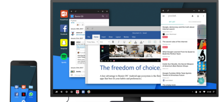 Remix OS anuncia su versión móvil para convertir tu smartphone Android en un PC de escritorio