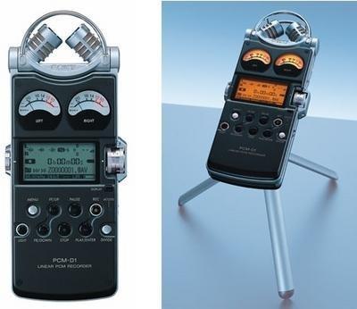 Micrófono profesional Sony con disco duro