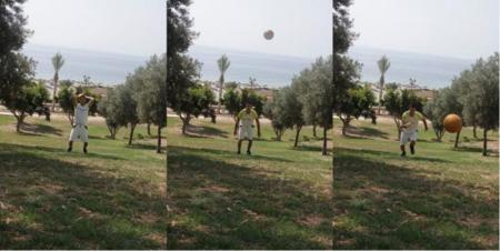 Lanzamiento con balón medicinal en cuestas