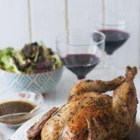 Un pollo asado al estilo Robuchon y un pastel de cierva en el menú semanal del 18 al 24 de enero
