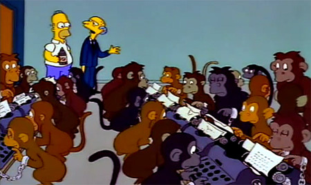 Mr Burns Monkeys Typewriters1