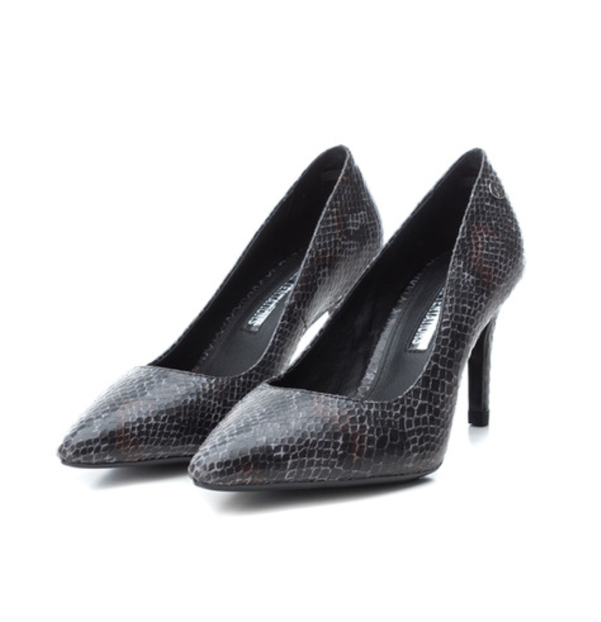 Zapatos de salón de mujer Xti con tacón de aguja y animal print