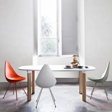 Clásicos del diseño: Drop Chair de Arne Jacobsen, un clásico olvidado que vuelve a la vida
