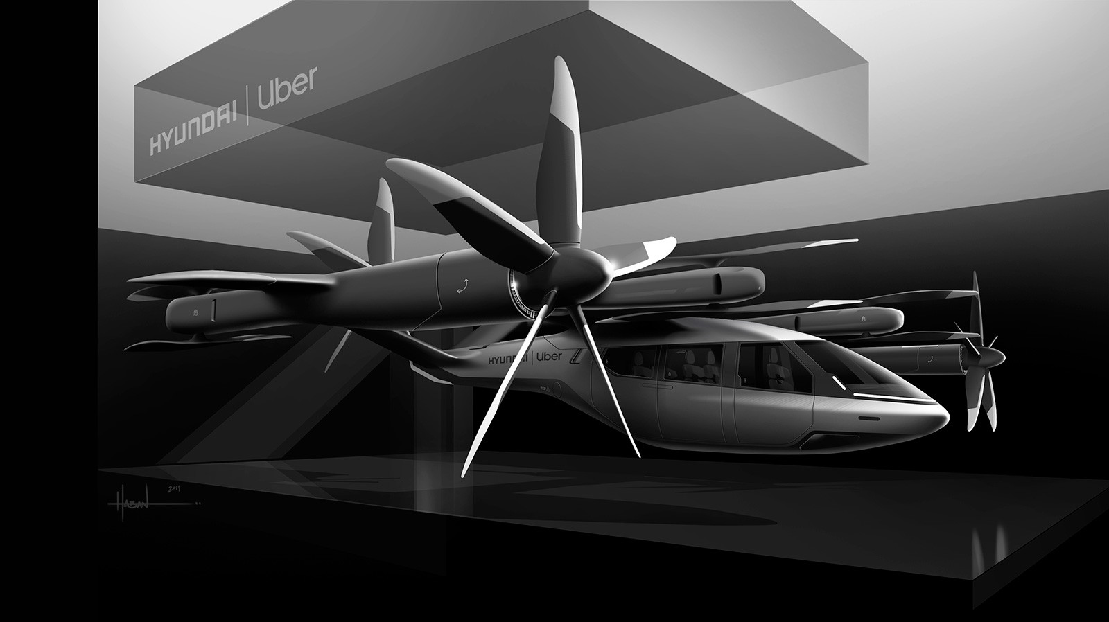PAV S-A1, el taxi volador de Hyundai para Uber Elevate