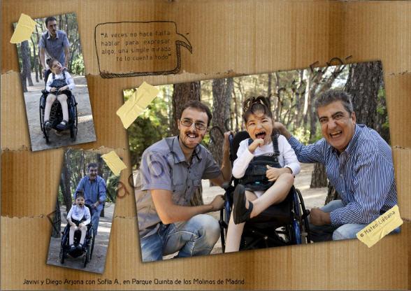 Javivi y Diego Arjona con Sofia en el Parque Quinta de los Molinos