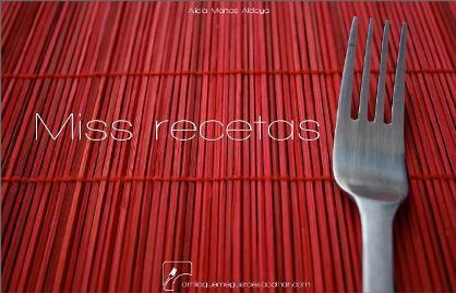 Miss recetas, libro de cocina