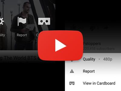 Youtube prepara un nuevo estilo para las opciones de vídeo