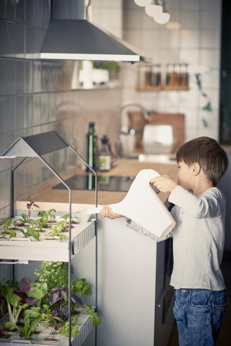 Ikea Coleccion Indoor Gardening 2016 Ph133373 Krydda Estante Plantas 3 Niveles Acero Negro Galvaniza