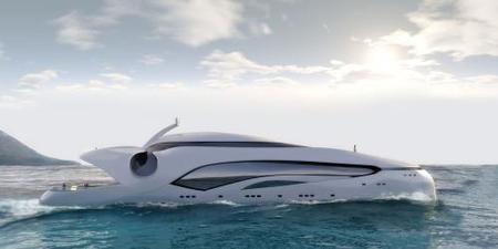 El Oculus, el yate de lujo con diseño de ballena sonriente
