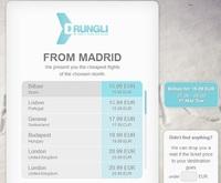 Drungli: buscador de vuelos baratos... sin importar el destino