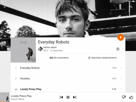 Google Play Music Ipad 2 1