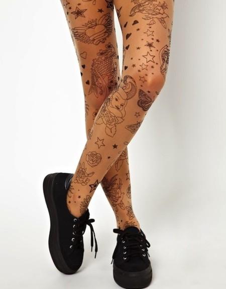 tatuaje medias de nylon