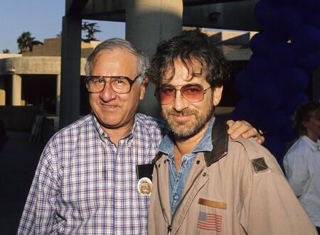 Arnold Spielberg con su hijo