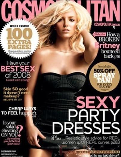 Britney rejuvenece misteriosamente para Cosmopolitan