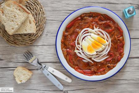 Receta De Zorongollo Tradicional La Deliciosa Ensalada Extremeña De Pimientos